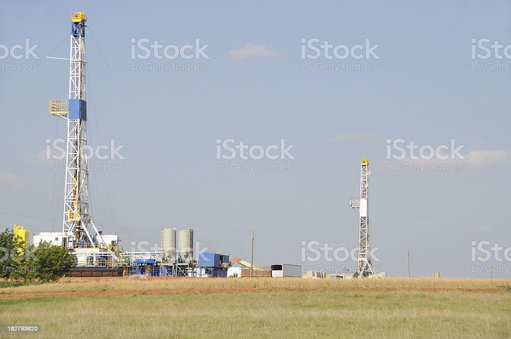 Oklahoma Drilling Rigs stock photo
