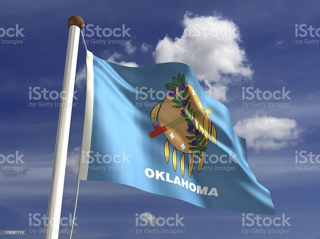 Oklahoma flag (with clipping path) royalty-free stock photo