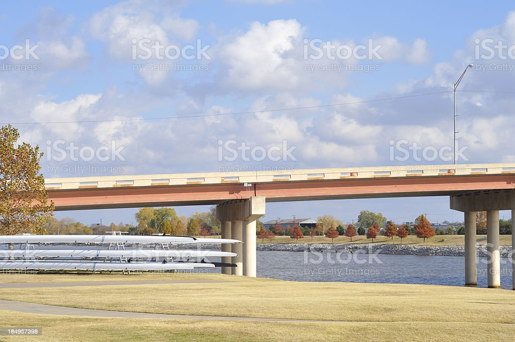 Oklahoma River stock photo