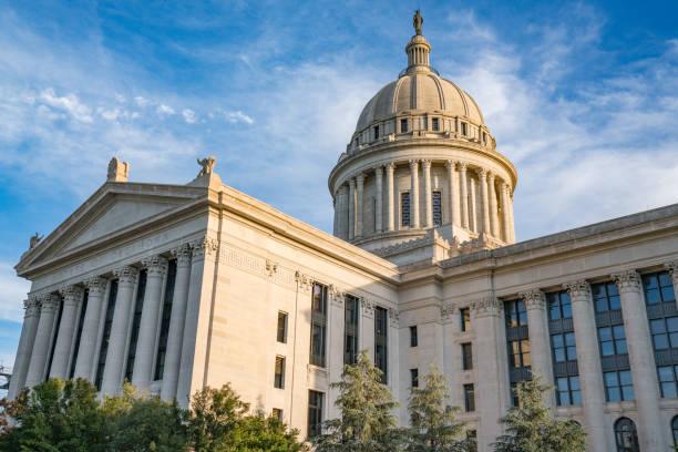 Oklahoma State Capital Building stock photo