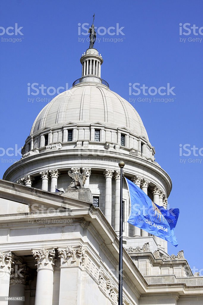 Oklahoma State Capitol stock photo