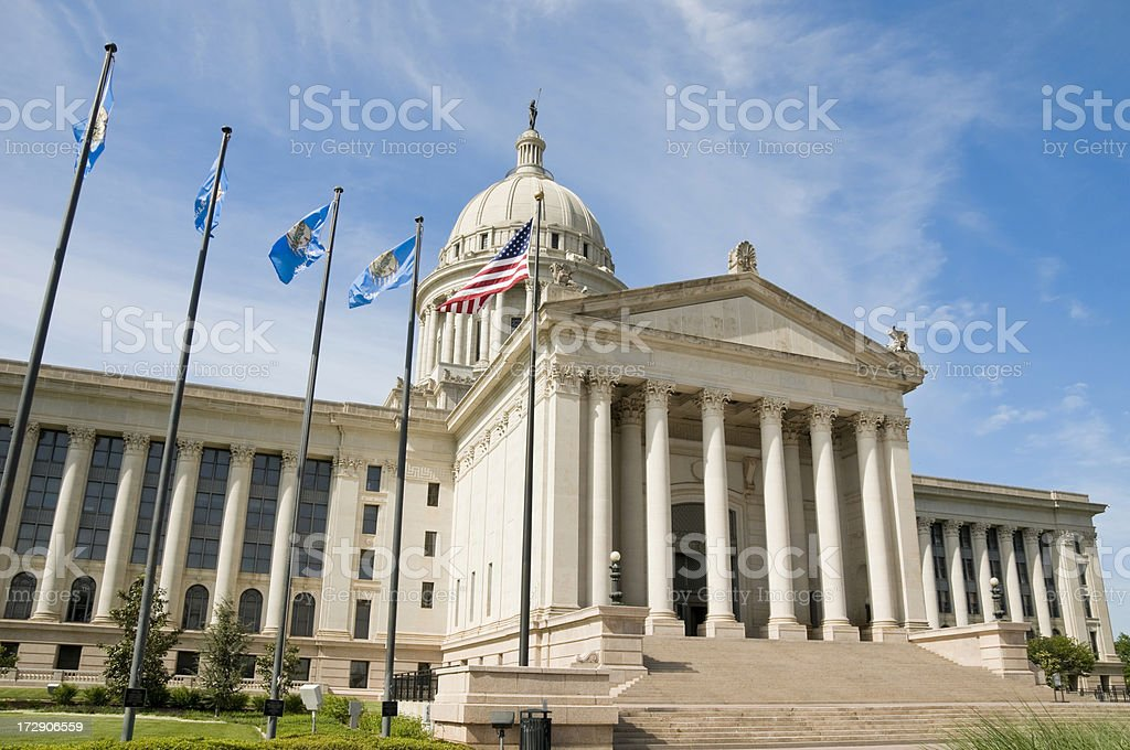 Oklahoma State Capitol - Side View royalty-free stock photo