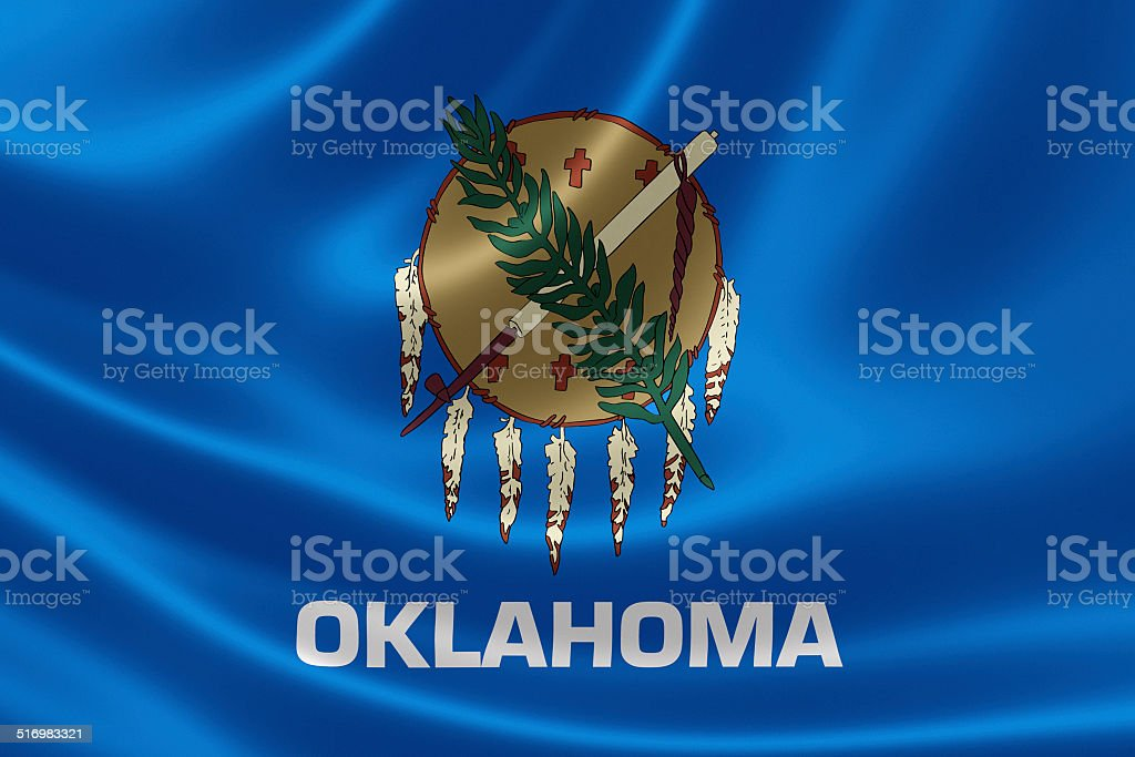 Oklahoma State Flag stock photo