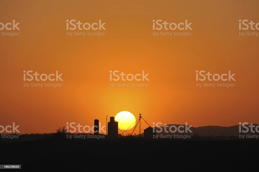 Oklahoma Sunset stock photo