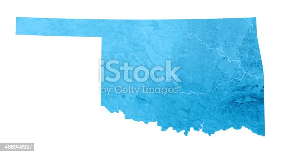 173169385istockphoto Oklahoma Topographic Map Isolated 466946937