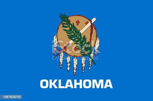 istock Oklahoma USA State Flag 1087626752