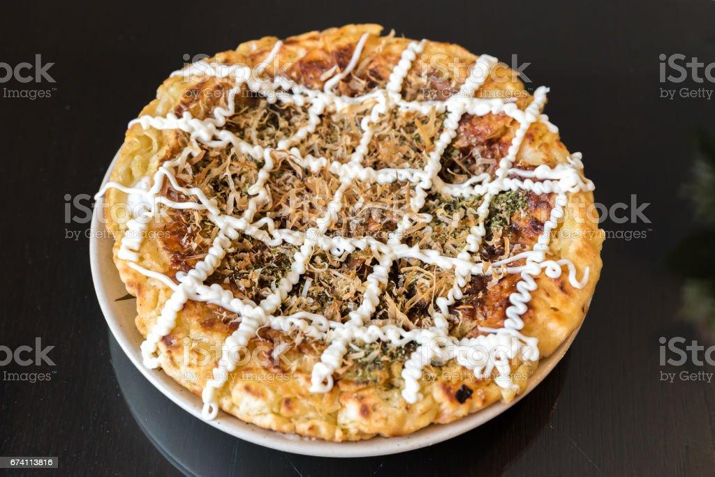 okonomiyaki japanese pizza 免版稅 stock photo
