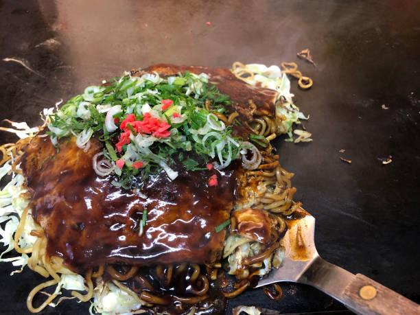 Okonomiyaki stock photo
