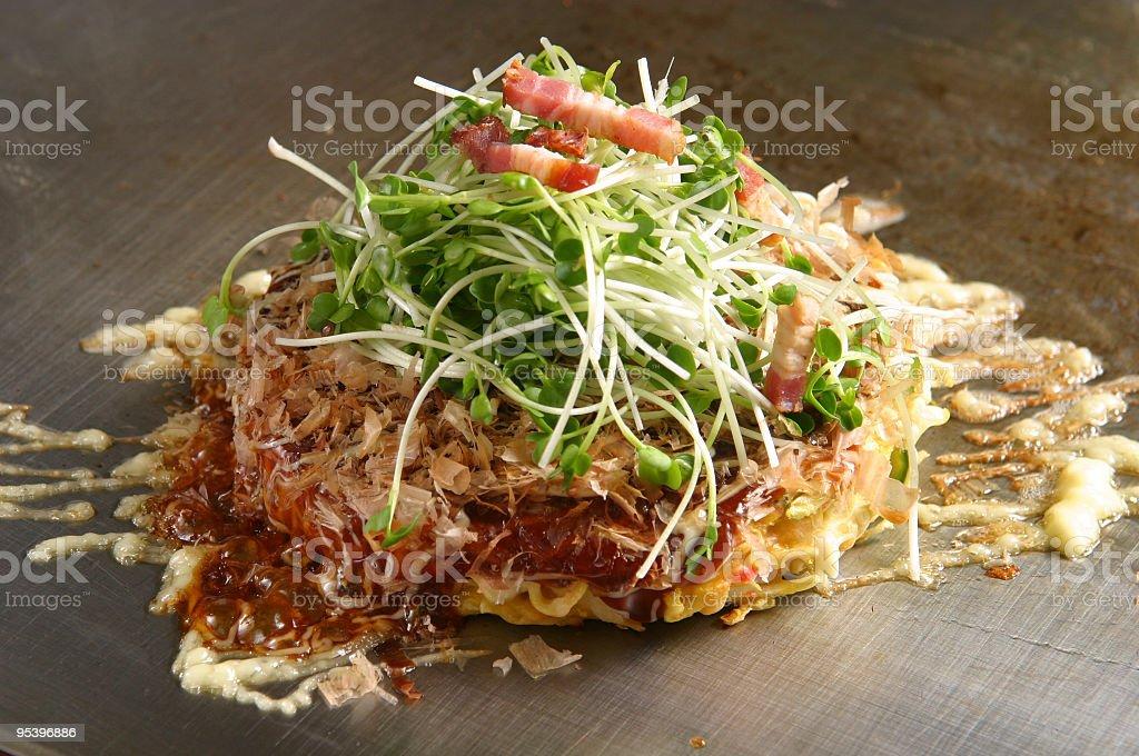 okonomiyaki teppan royalty-free stock photo