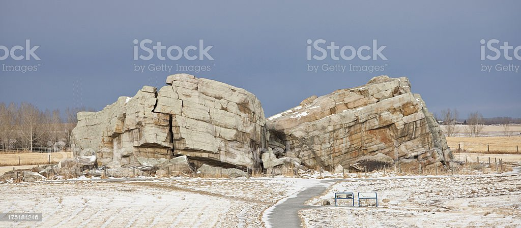 Okotoks Erratic royalty-free stock photo