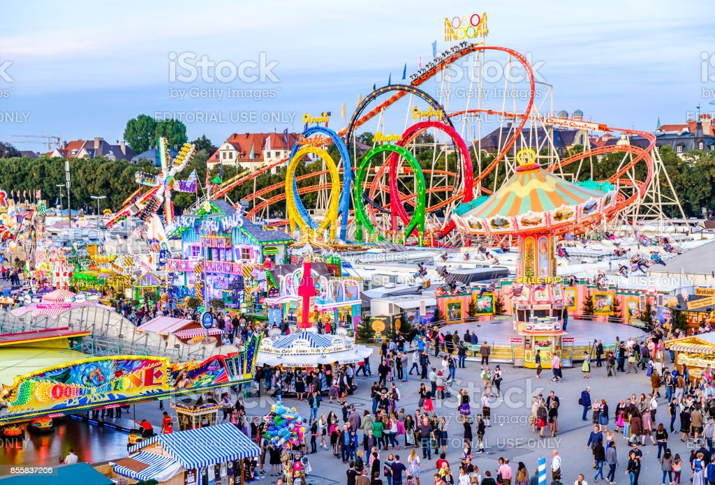 oktoberfest 2016 - munich - bavaria stock photo