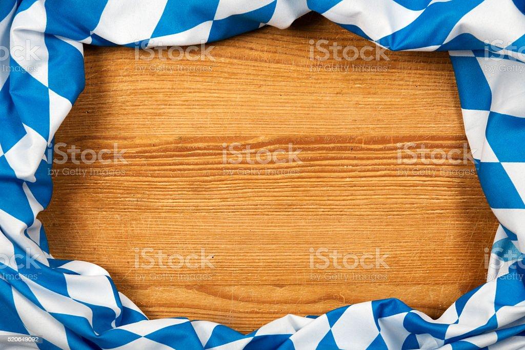 Oktoberfest Hintergrund – Blau Rhombus-Muster Stoffe Frame – Foto