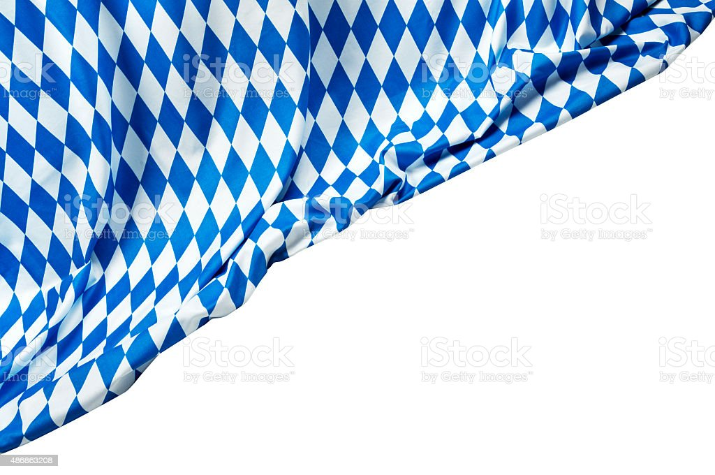 Oktoberfest Background– Blue Rhombus Pattern Fabrics stock photo