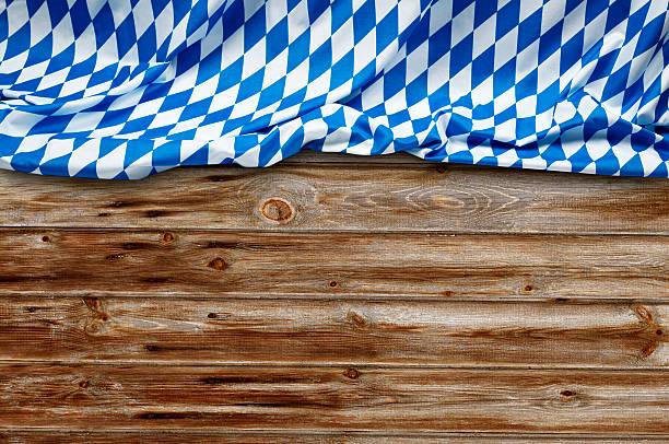 Oktoberfest Background– Blue Rhombus Pattern Fabrics stock photo