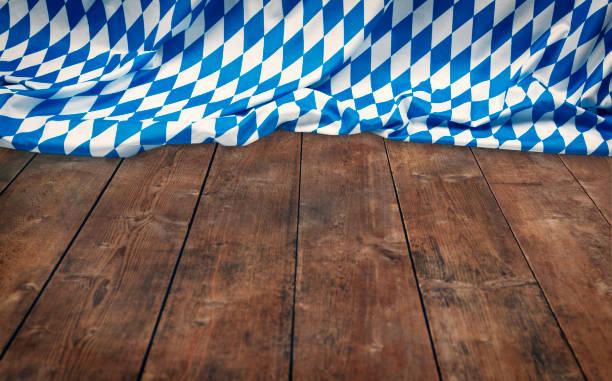oktoberfest background– blue rhombus pattern fabrics - oktoberfest stock photos and pictures