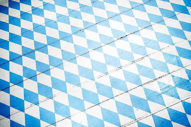 Oktoberfest Background– Blue Rhombus Pattern stock photo