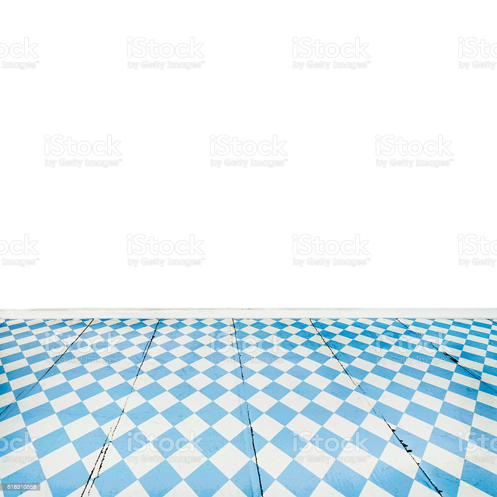 Oktoberfest Background– Blue Rhombus Pattern Wooden Floor stock photo