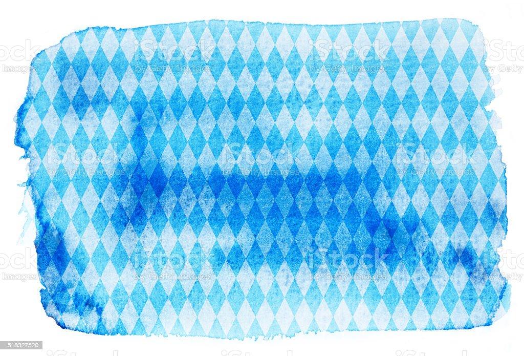 Oktoberfest Hintergrund – Aquarelliert Blau Rhombus-Muster – Foto