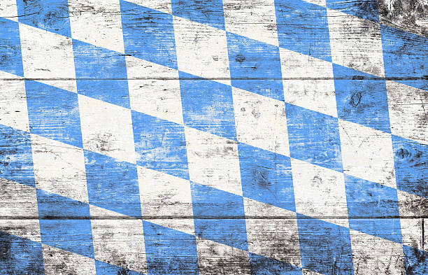 Oktoberfest background with blue and white rhombus pattern - Photo