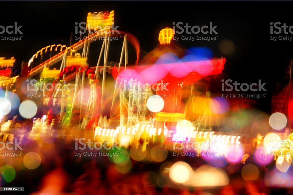 Oktoberfest background with bokeh effects stock photo