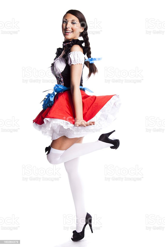 Oktoberfest Bavarian girl royalty-free stock photo