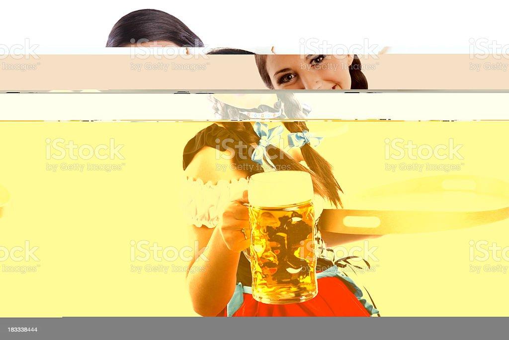 Oktoberfest Bavarian girl with beer royalty-free stock photo