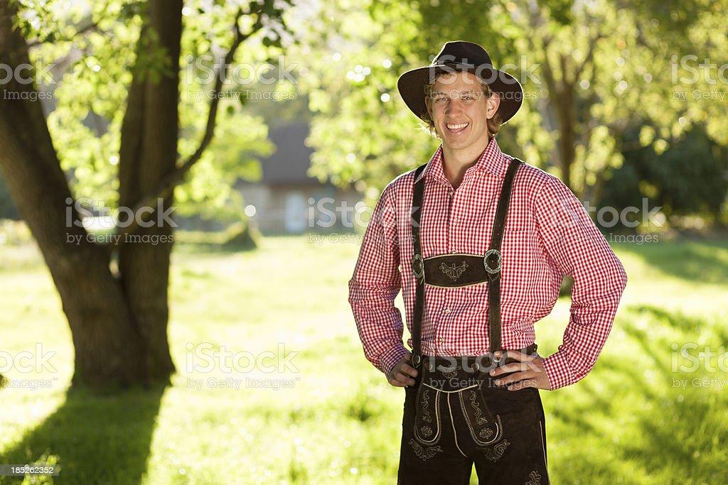 Oktoberfest bayerischen Mann – Foto