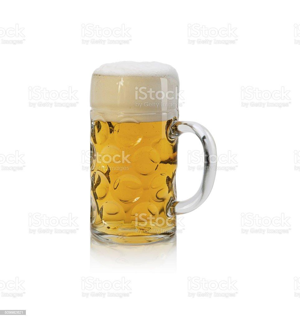 Oktoberfest Beer Mug Isolated on White Background stock photo