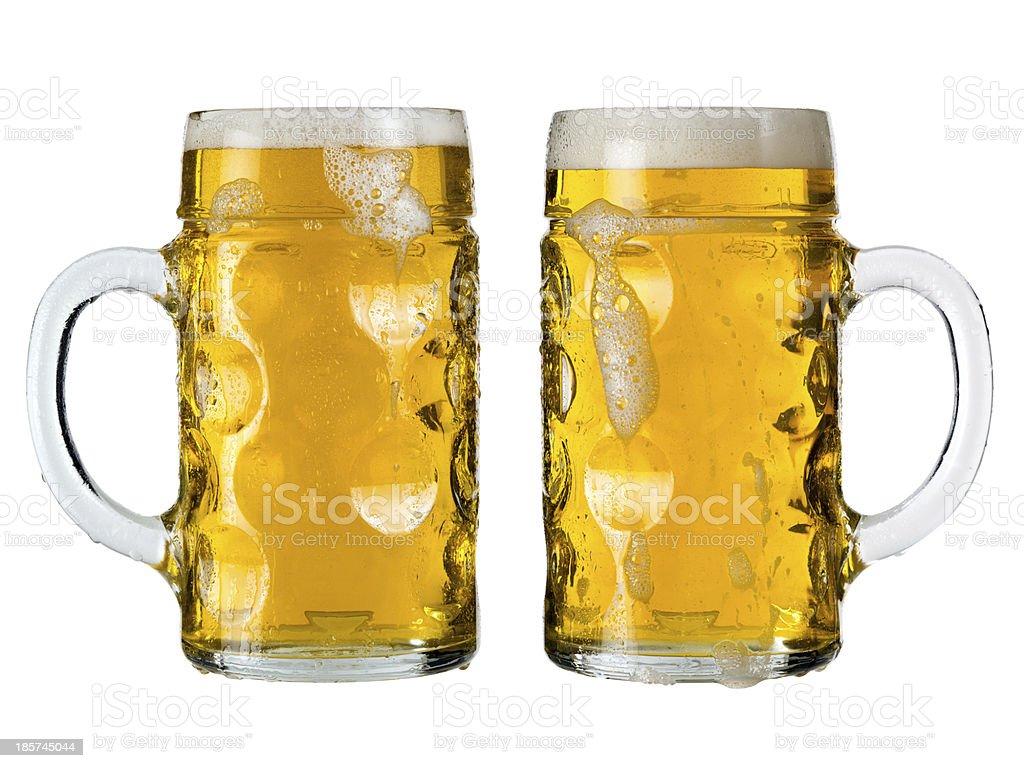 Oktoberfest beer stein or Mass stock photo