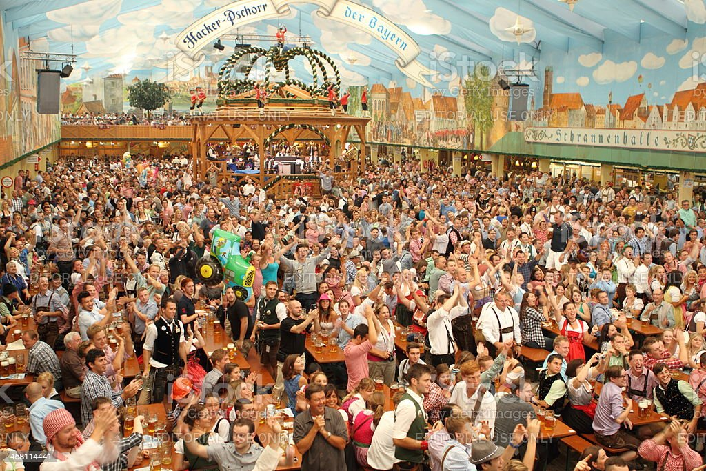 Oktoberfest Beer Tent royalty-free stock photo & Oktoberfest Beer Tent stock photo 458114441 | iStock
