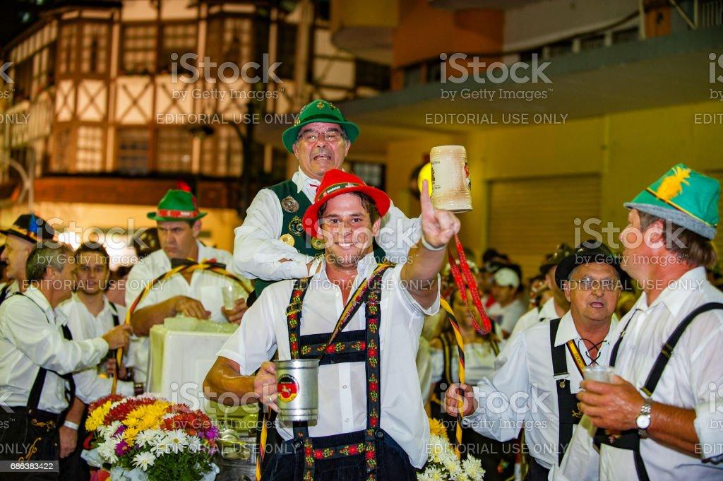 Oktoberfest, Blumenau - Brazil - Official Parade Blumenau, Santa Catarina - Brazil - October 10, 2012:  Adult Stock Photo