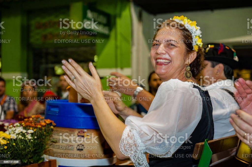 Oktoberfest, Blumenau - Brazil - Official Parade stock photo