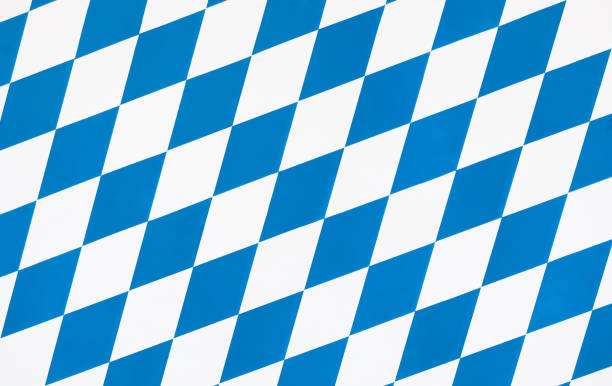 Oktoberfest checkered background stock photo