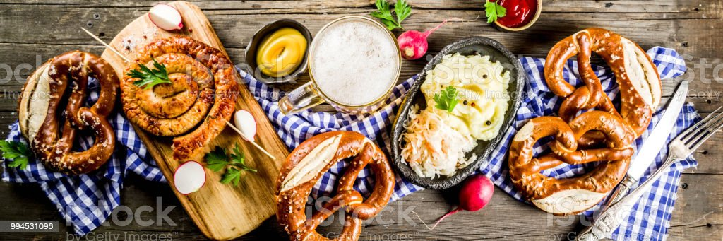 Oktoberfest food concept stock photo