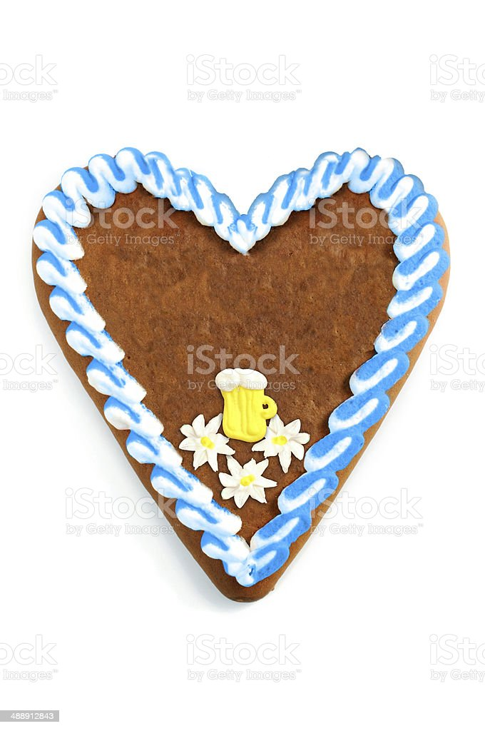 Oktoberfest Gingerbread copy space stock photo