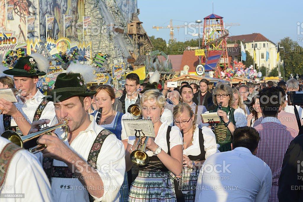 Oktoberfest Marching Band royalty-free stock photo