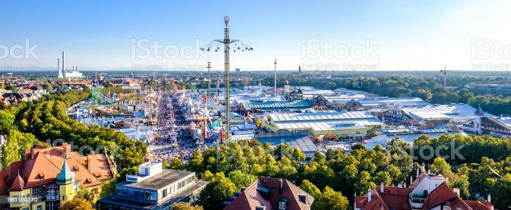 Oktoberfest - München - Bayern - Lizenzfrei Ansicht von oben Stock-Foto