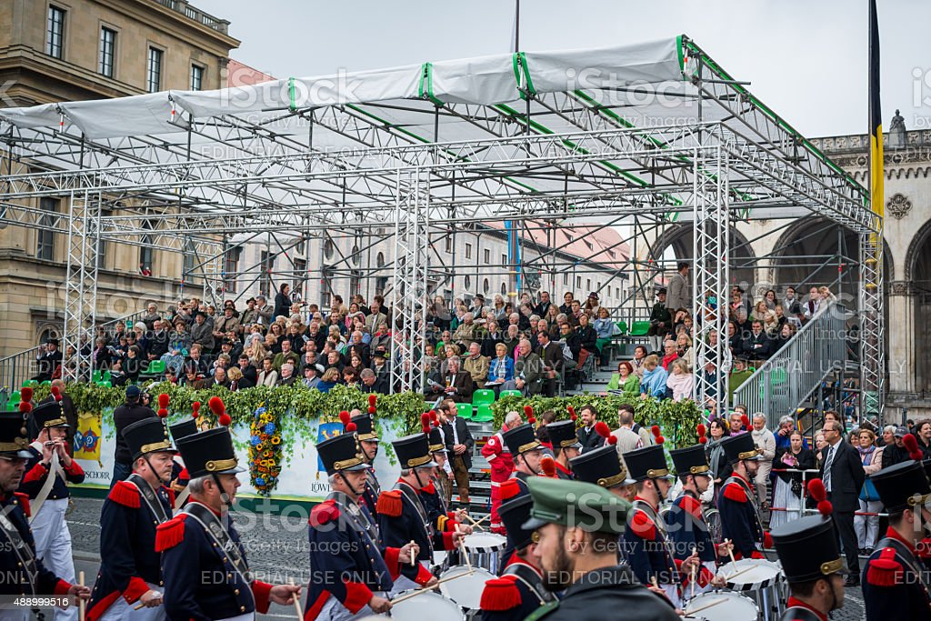 Oktoberfest Munich - Opening Parade 2015 stock photo