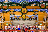 typical old decoration at the oktoberfest in munich - germany