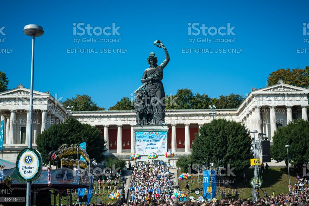 Oktoberfest Munich - Standkonzert 2016 stock photo