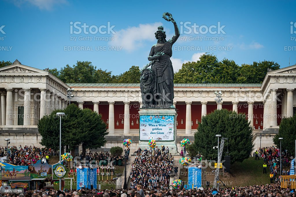 Oktoberfest Munich - Standkonzert stock photo