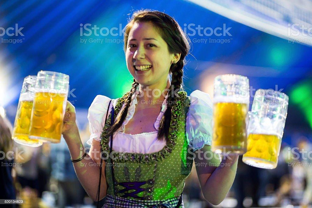 Oktoberfest Party Girl stock photo