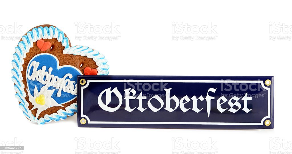 Oktoberfest sign with Gingerbread Cookie royalty-free stock photo