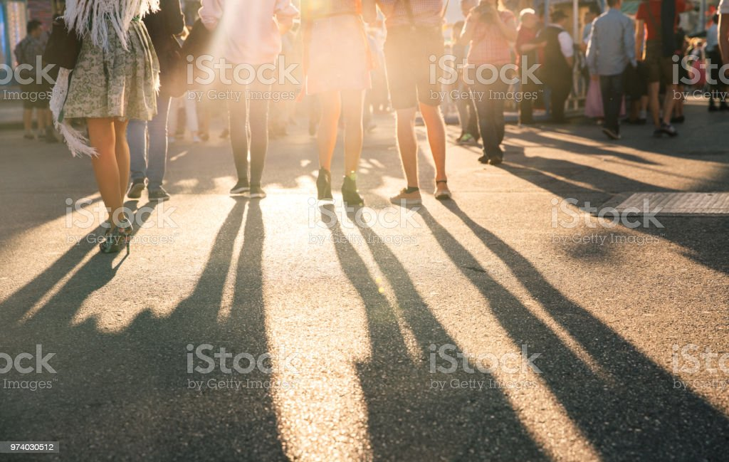 Oktoberfest Visitors, Munich, Germany stock photo