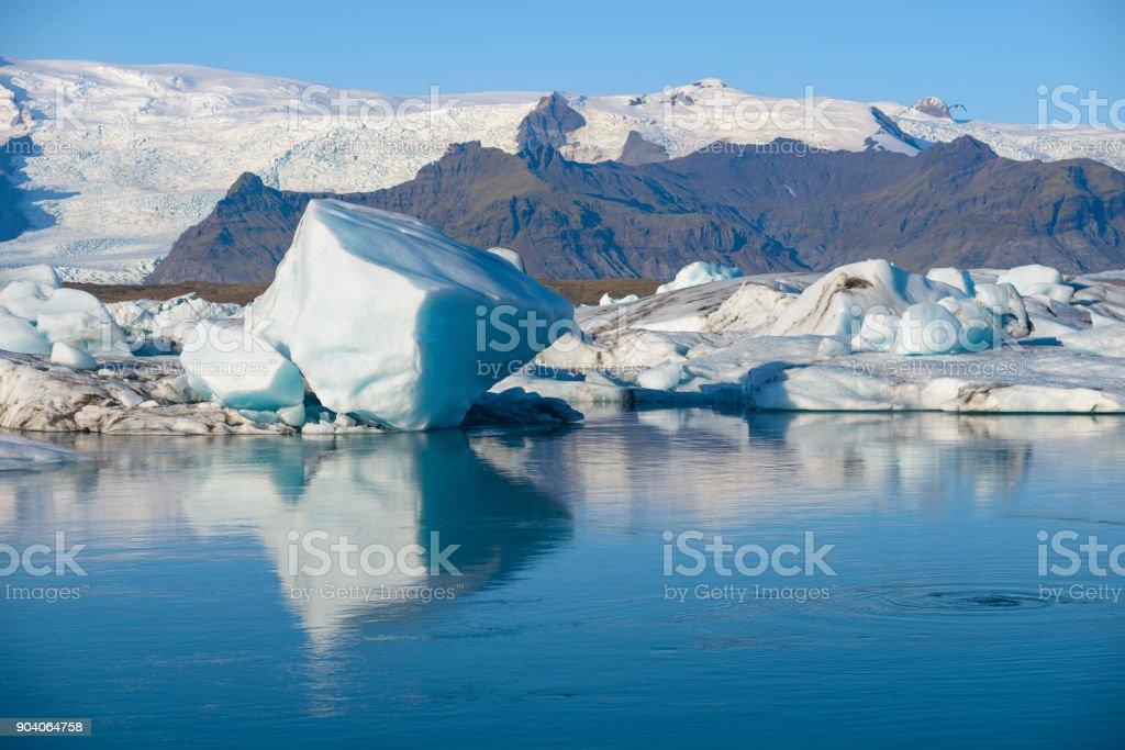 okulsarlon Glacier Lagoon,Iceland stock photo