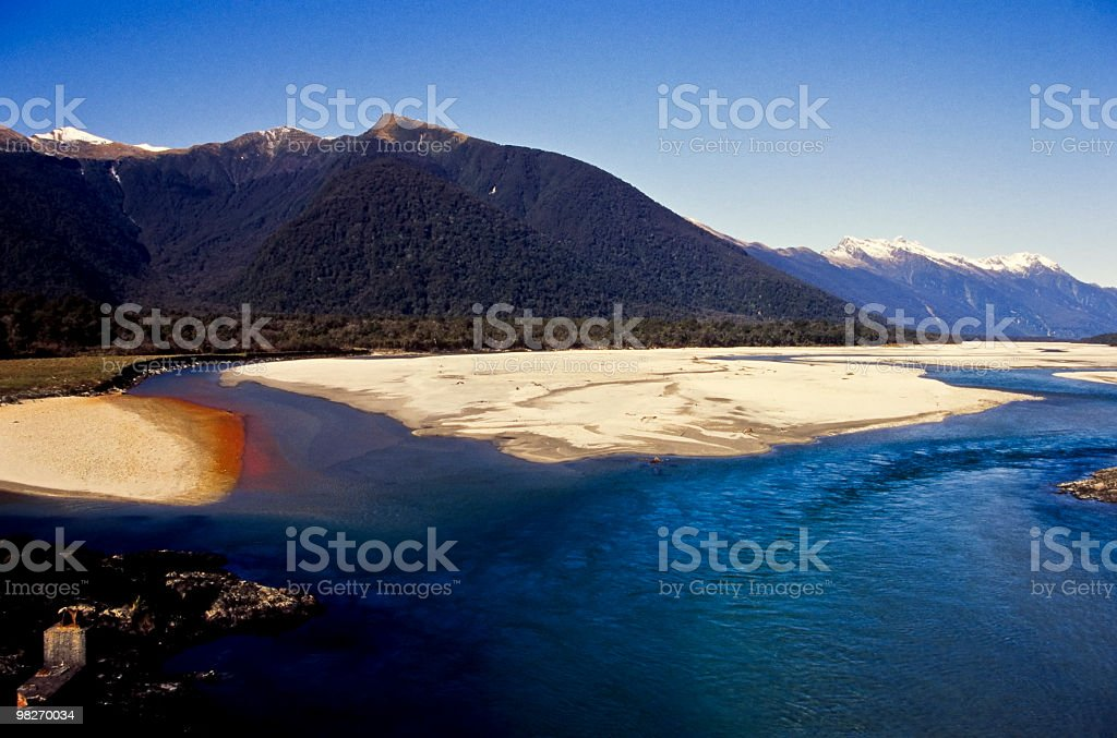 Okuru River royalty-free stock photo