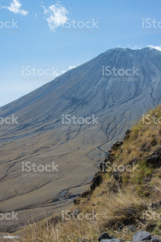 Ol Doinyo Lengai Volcano Braided Ditches stock photo