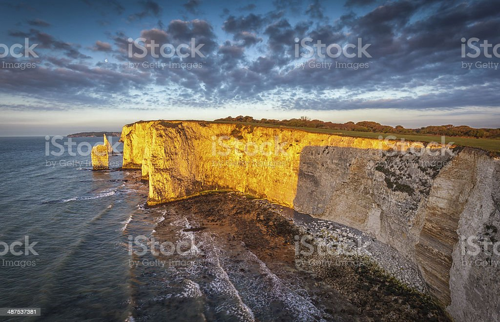 Ol Harry Rocks, Jurassic Coast, stock photo