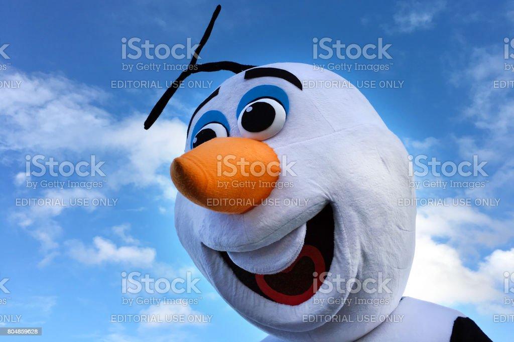 Olaf snowman stock photo