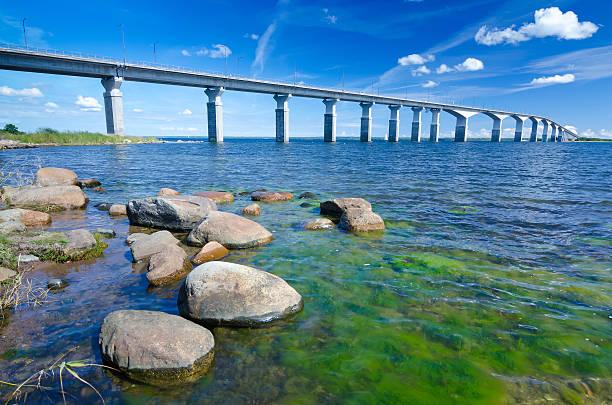 Oland's bridge in summer season stock photo